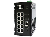 Industrial 10-Port GbE (with 8-Port PoE+) and 2-Port 10G SFP+ Managed Switch